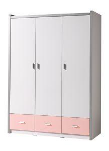 Kledingkast Bonny 3 deuren - roze