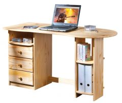 Computertafel Touchround 137cm - natuur
