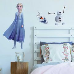 XL muursticker Frozen 2 Elsa & Olaf