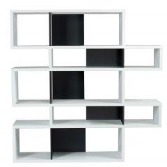 Boekenkast Lisbon 2 - wit/zwart