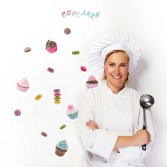 Muurstickers Cupcakes & Macarons