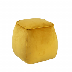 Poef Mirza 40x40 - geel