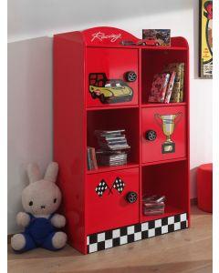 Boekenkast voor autobed - rood - Formule 1 racing
