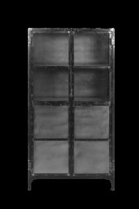 Vitrinekast Brooklyn - ijzer / glas - Natural Steel