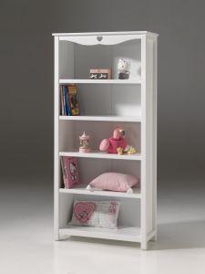 Boekenkast Amori wit 90cm breed - Meisjeskamer