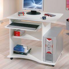 Computertafel op wielen Adda - wit