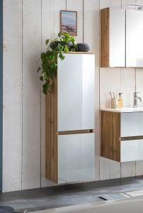 Kolomkast Helina 40cm 2 deuren - eik/wit