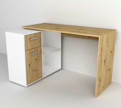 Bureau Albrecht 117cm - artisan eik/wit