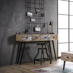 Sidetable/bureau Teca 120cm industrieel - teak