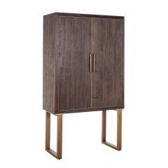 Buffetkast Cromford 100cm 2 deuren - bruin/goud