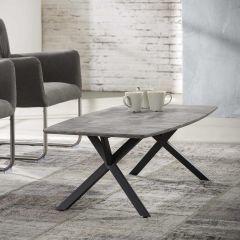 Salontafel 120 ovaal blad - 3D betonlook grijs