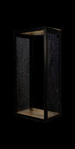Wandplank Brixton - 30x64 cm - mangohout / ijzer