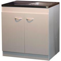 Onderkast voor spoelbak 2 deuren (100cm)