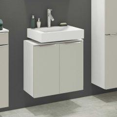 Wastafelonderkast Hansen 60cm 2 deuren - grijs/wit