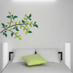 Muurstickers 3D Green Branch - schuimstickers
