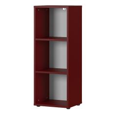 Lage boekenkast Osmond 45cm - rood