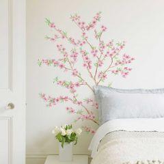 Muursticker Peach Branches XL