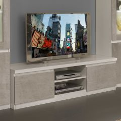 Tv-meubel Roma 150cm - wit/beton