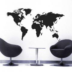 Muursticker World Map XXL