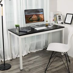 Bureautafel Joris 120cm - zwart/wit