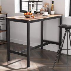 Bartafel Isolde 120x60 industrieel - bruin/zwart