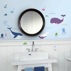 Muurstickers Sea Whales - set van 50 stickers