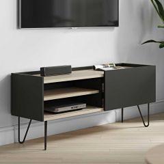 Tv-meubel Nina 140cm - eik/zwart