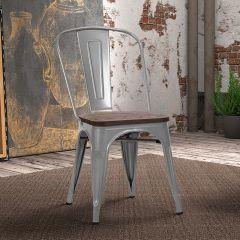 Set van 4 stoelen Victoria - grijs