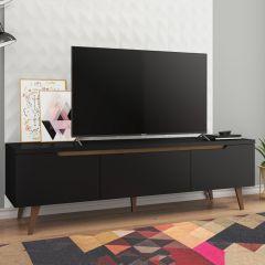 Tv-meubel Infas 180cm met 2 deuren & 1 lade - zwart