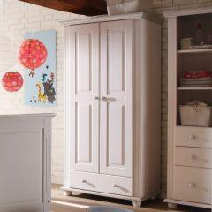 Kledingkast Laurel 96cm met 2 deuren & 1 lade - wit