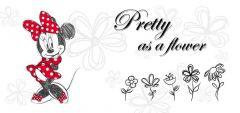 Canvas Minnie - Flower