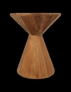Bijzettafel Hourglass - gerecycled hout