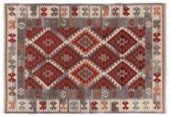 Vloerkleed Kilim Zagros Red/Grey/Iv 230x160