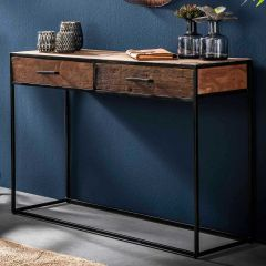 Sidetable Florin 2 lades industrieel - hardhout