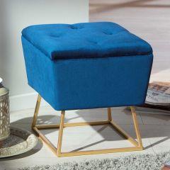Poef Surin - blauw