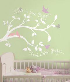 RoomMates muurstickers - Tak met vogels en vlinders