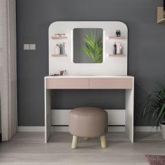 Make-uptafel Secret - roze/wit