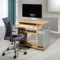 Computertafel op wielen Janus 80cm - artisan eik