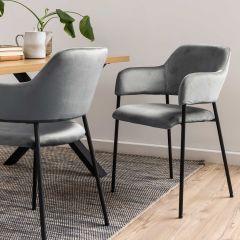 Set van 2 stoelen Lilou - grijs