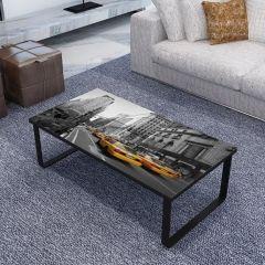 Salontafel New York 105x55 metaal & glas - zwart
