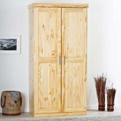 Kledingkast Leon 95cm met 2 deuren - natuur