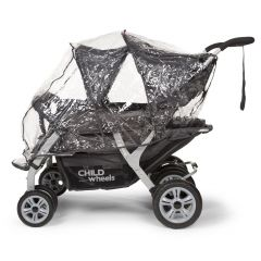 Regenhoes voor Quadruple kinderwagen