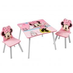 Kindertafel en stoeltjes Minnie Mouse