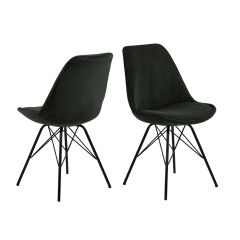 Set van 2 stoelen Erin - donkergroen