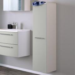 Kolomkast Gene 30cm 1 deur - wit/mat lichtgrijs