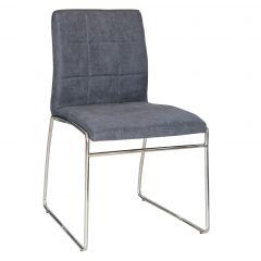 Set van 2 stoelen Tine - grijs