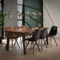 Eetkamertafel 210 edge 25mm - Massief acacia naturel