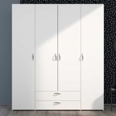Opbergkast Salvador 4 deuren & 2 laden - wit