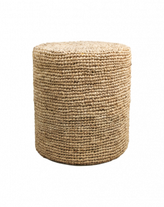 Pouf Malibu - raffia - ø34 cm - naturel