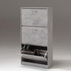 Schoenenkast Carini 3 laden - beton